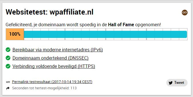 Optimaal Resultaat via mijn Hosting Provider van WP Affiliate