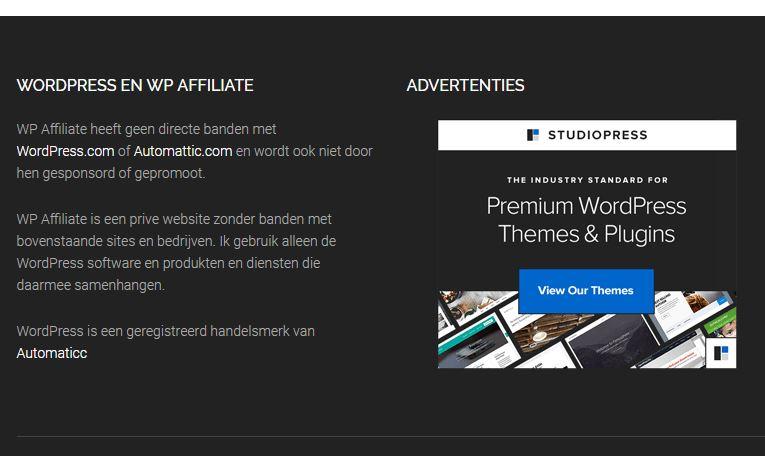 Advertentie Banners tonen op je website